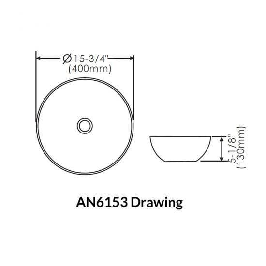 Thin Rim Art Basin AN6153