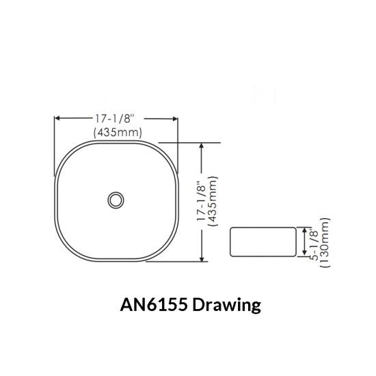Thin Rim Art Basin AN6155
