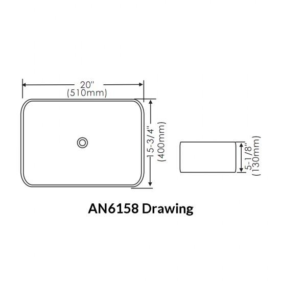 Thin Rim Art Basin AN6158