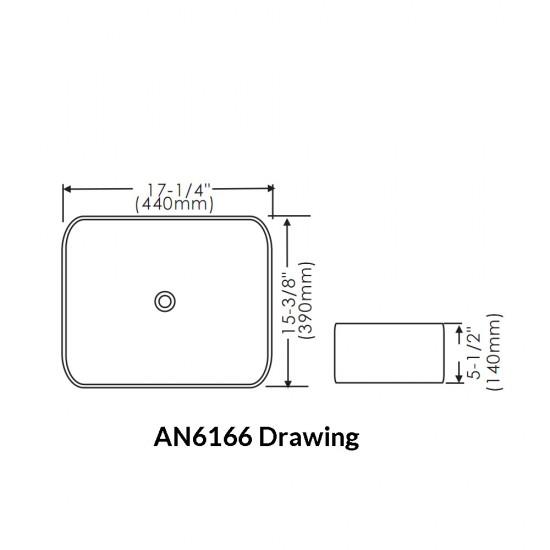 Thin Rim Art Basin AN6166