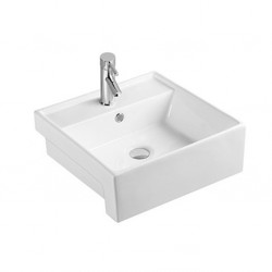 Semi-recessed basin AN6172