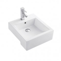 Semi-recessed basin AN6190