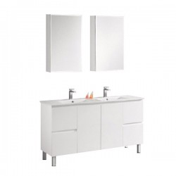 1500mm Bathroom Vanity Double Basin Bowl 1500A